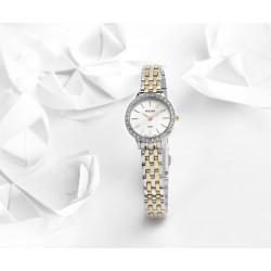 c00b28f365201 Montre femme Classique bi-colore cristaux Swarovski