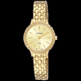 b61c0a43617e3 Montre femme Classique doré cristaux Swarovski