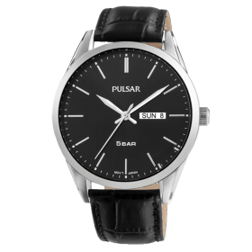 Montre homme Pulsar Tradition PJ6127X1 cuir noir