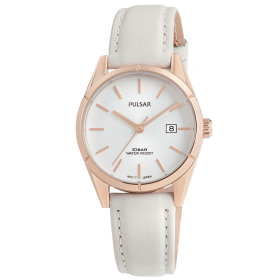 Montre femme Pulsar Classique PH7500X1 doré rose cuir